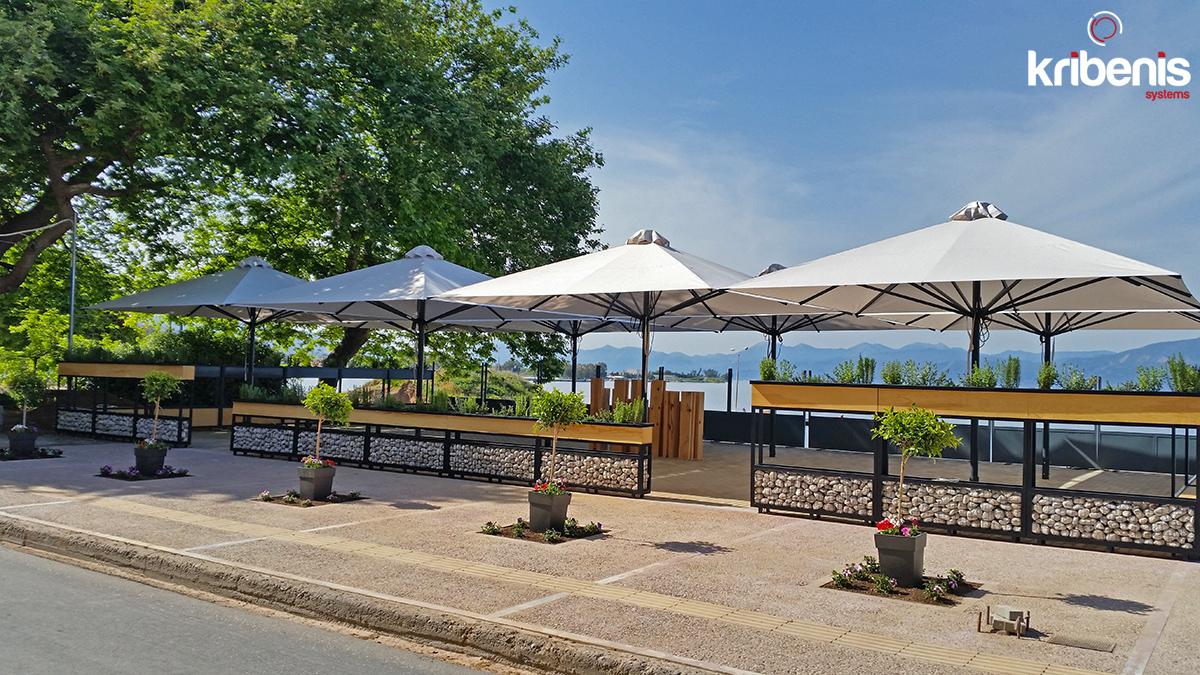 Επαγγελματικές ομπρέλες, παραλίας